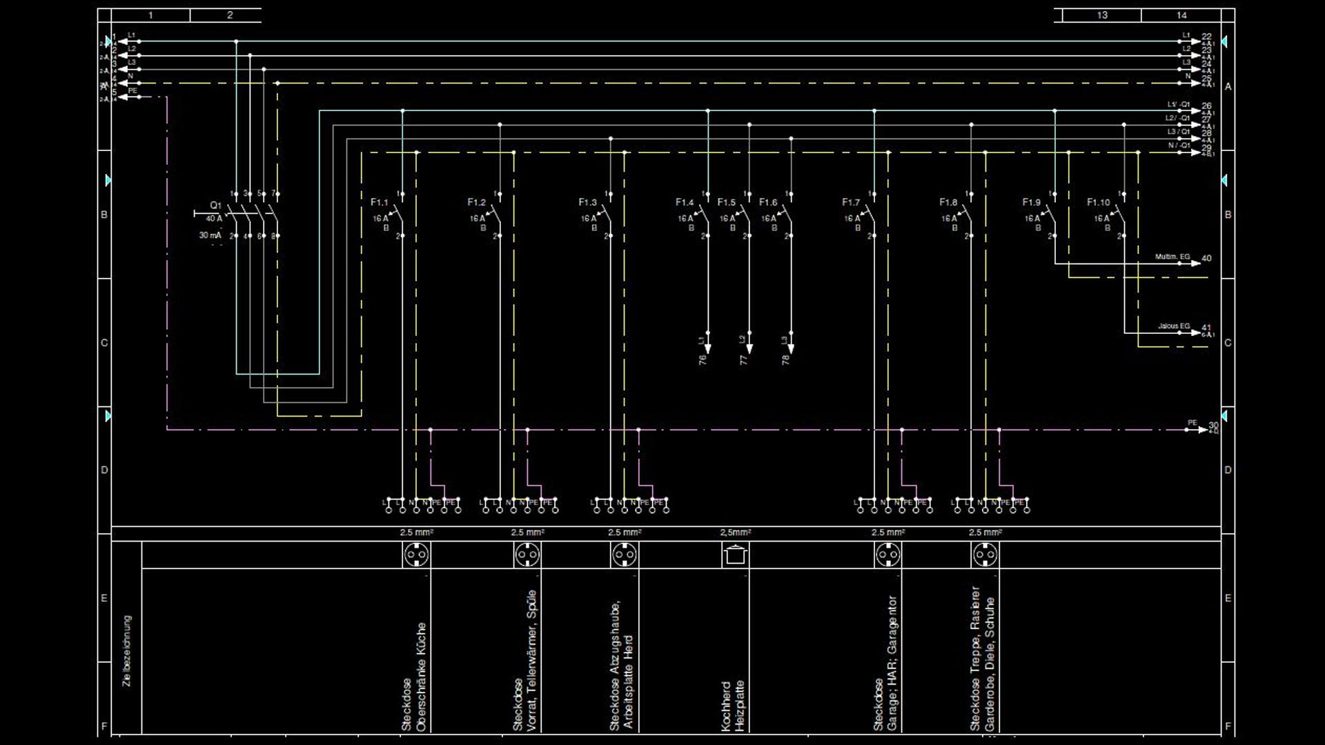 famous elektroinstallationsdiagramm pictures der schaltplan. Black Bedroom Furniture Sets. Home Design Ideas